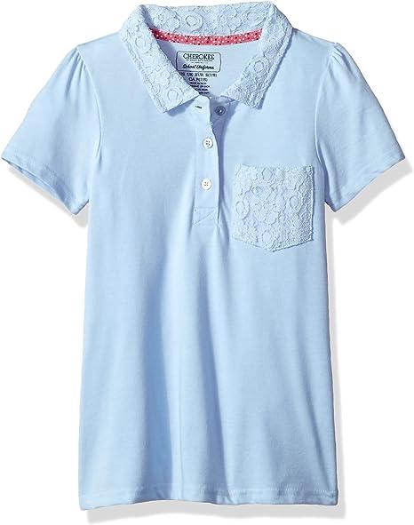 Cherokee Girls Uniform Short Sleeve Polo Rhinestones