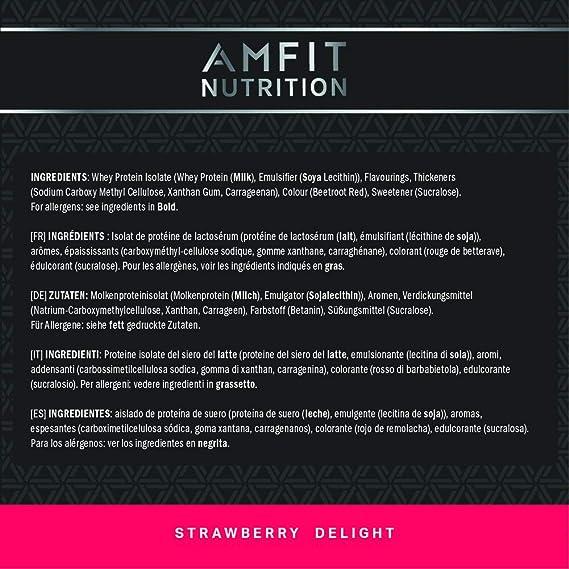 Marca Amazon - AMFIT Whey Isolate - Strawberry Delight 1980g