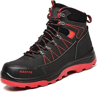 Chaussures de travail de sécurité pour hommes Bottes à bout d/'acier Baskets