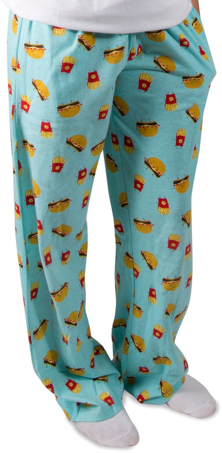Pavilion - Cheeseburger and Fries - Unisex Pajama Pants with Pockets - Small
