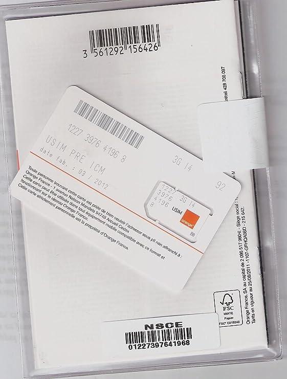 Tarjeta de prepago Orange (Francia): Amazon.es: Electrónica