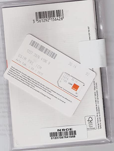 orange carte sim prépayée Prepaid Orange SIM card: Amazon.co.uk: Electronics