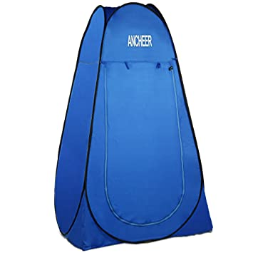 ANCHEER Pop Up Tents Shower Tent Blue Polyester Portable Quick Set Up Changing Room C&ing Beach  sc 1 st  Amazon.com & Amazon.com: ANCHEER Pop Up Tents Shower Tent Blue Polyester ...