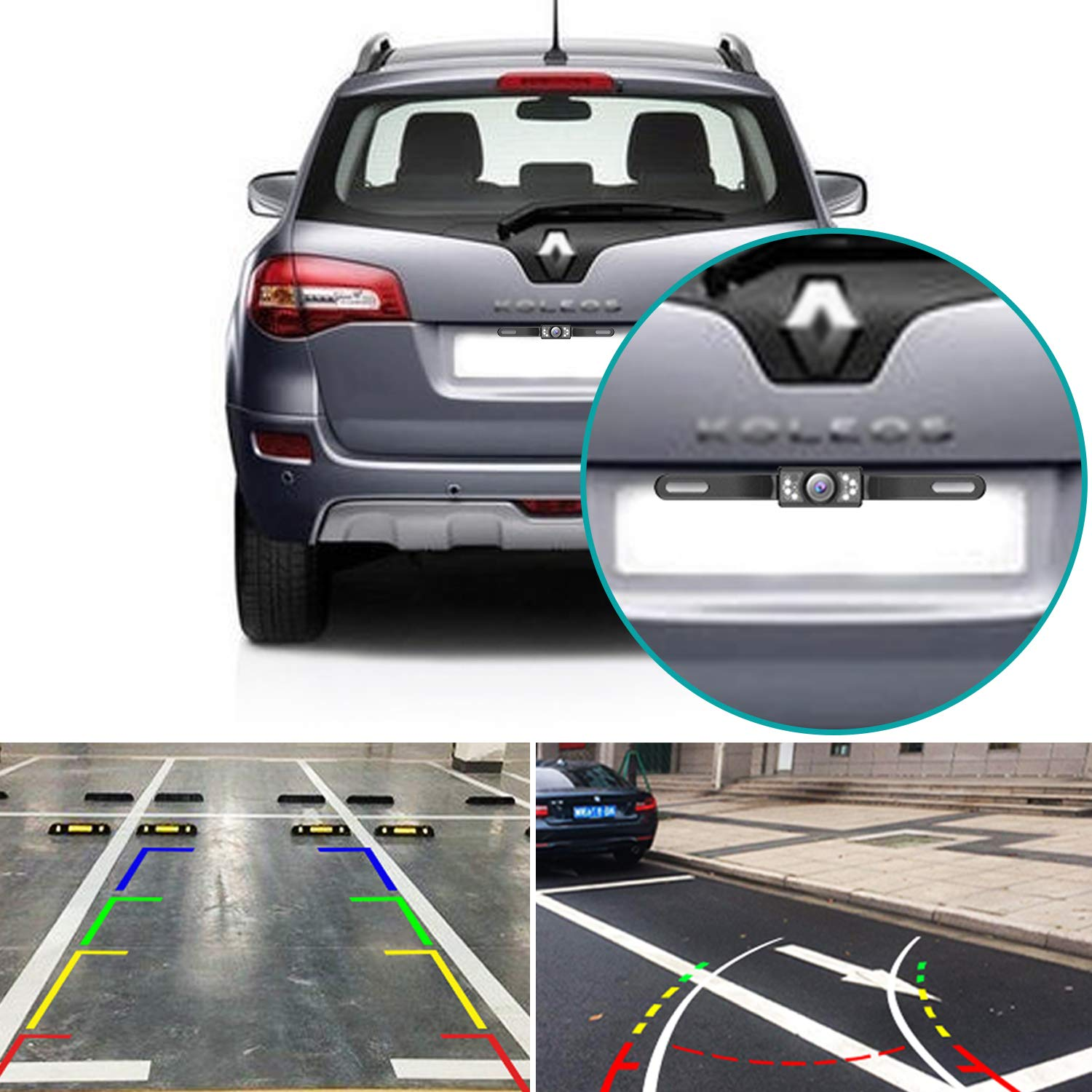 Car Rear View Reversing Backup Camera REOTECH Automotive with 110°Perfect View Angle 7 LED Lights Night Vision Waterproof Universal Car Backing Camera License Plate