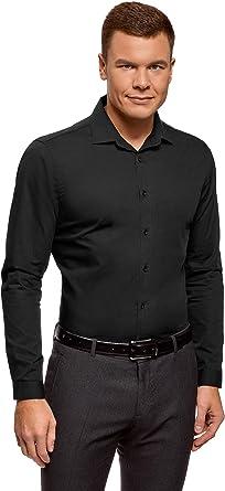 oodji Ultra Hombre Camisa Básica Entallada: Amazon.es: Ropa y ...