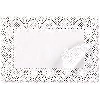 Blondas de papel rectangulares para tartas, postres, presentación