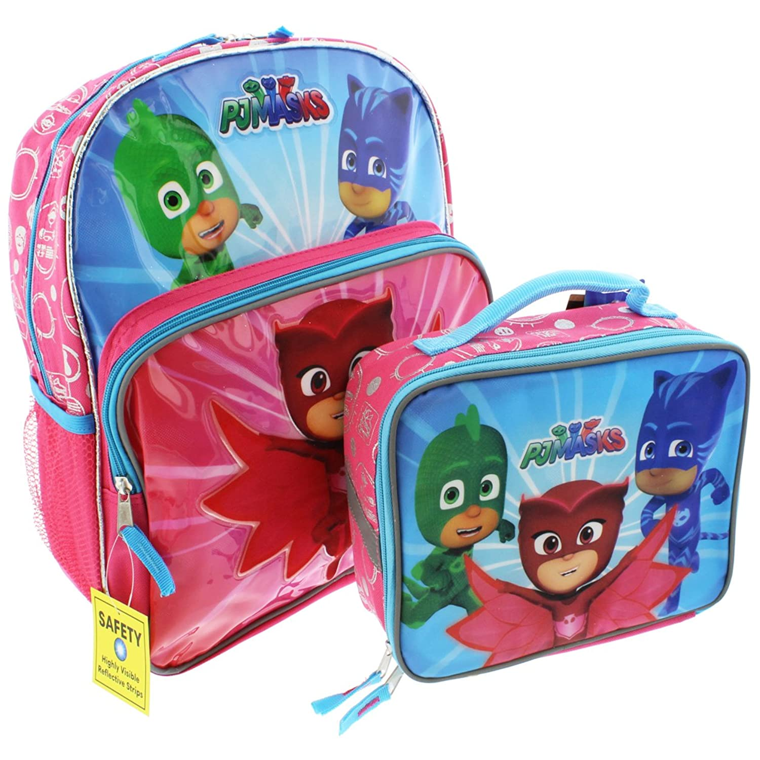PJ Masks 14 inch Backpack and Lunch Box Set