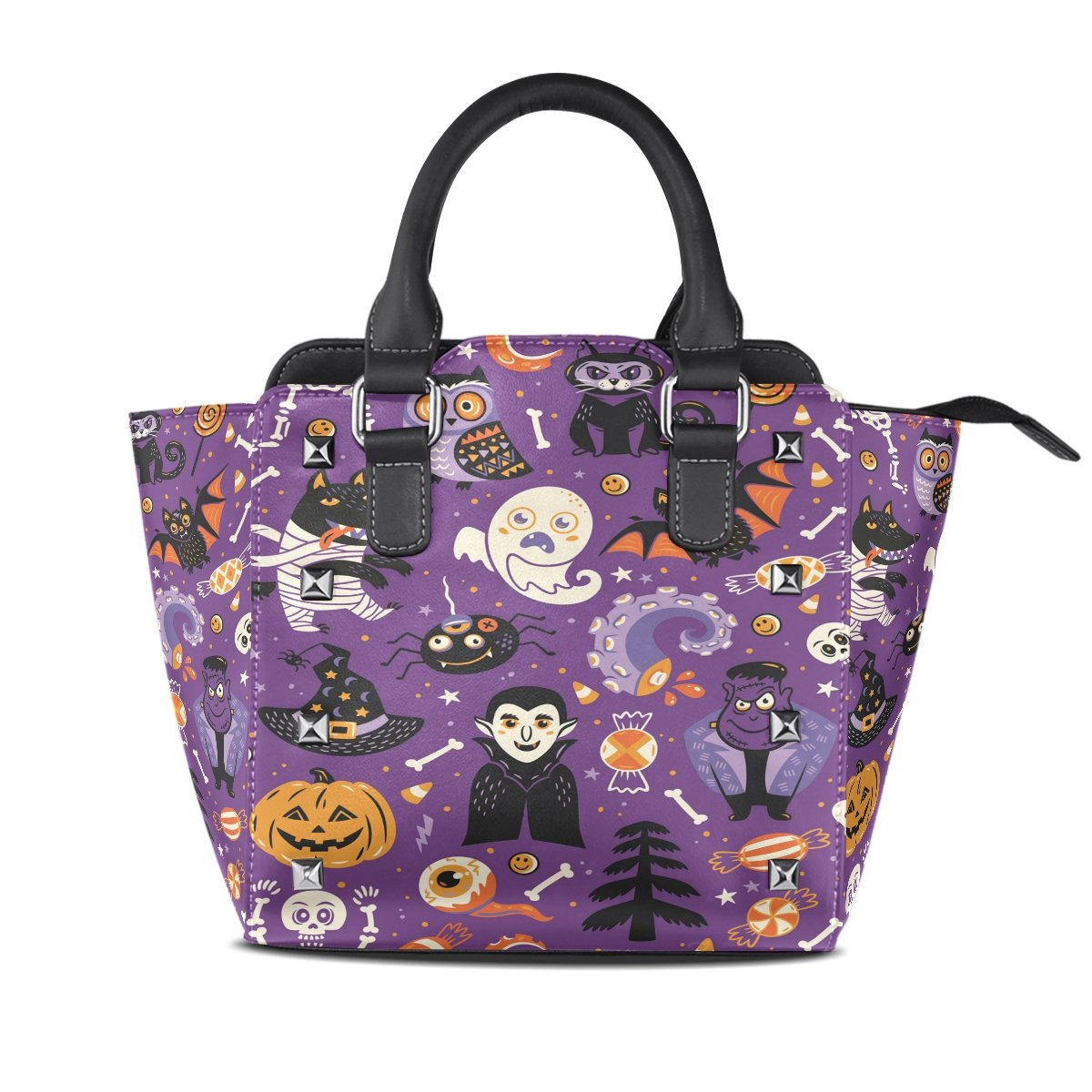 Womens Genuine Leather Hangbags Tote Bags Monsters Purse Shoulder Bags