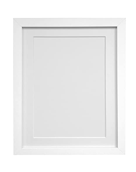 Frames By Post H7 White Picture Photo Frame With White Mount 20x16 Picture Size A3 Plastic Glass Amazon Co Uk Kitchen Home