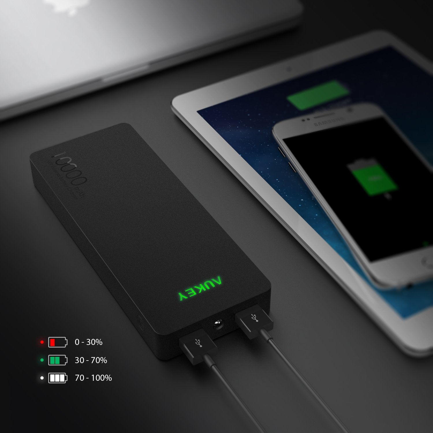 Aukey Quick Charge 30 Mobile Phone Charger Usb Desktop Pa T9 Turbo With Amazoncom 10000mah Portable Fast Qualcomm 20 For Smart Phones Black Cell Accessories