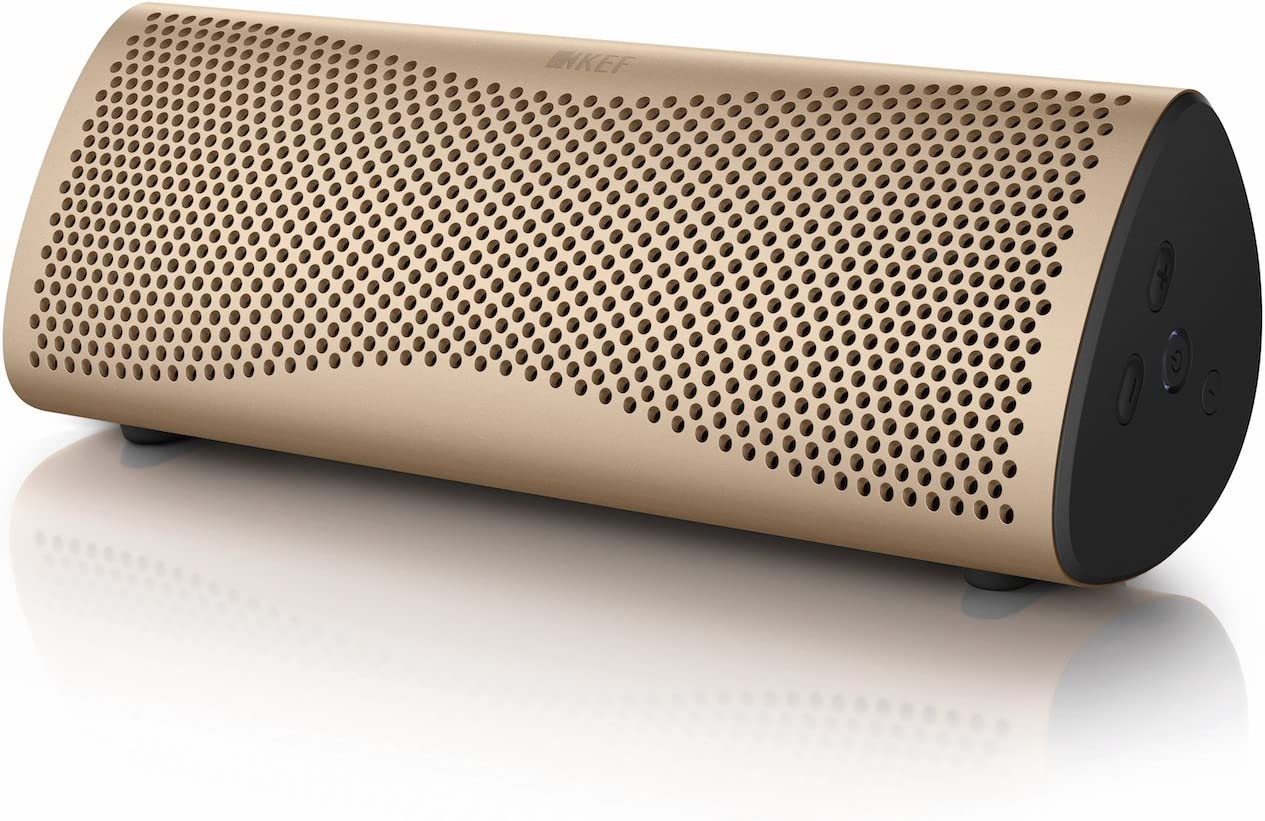KEF SP3892DA - Altavoz inalámbrico con Bluetooth, color oro