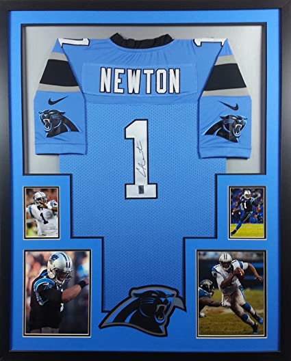 72c59d864e9 Image Unavailable. Image not available for. Color  Cam Newton Framed Jersey  Signed GTSM COA Autographed Carolina Panthers Auburn