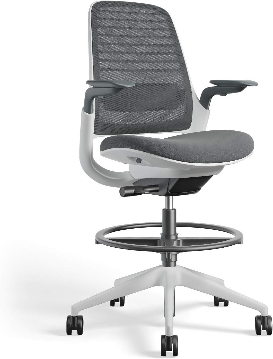 Steelcase Series 1 Office stool, Nickel