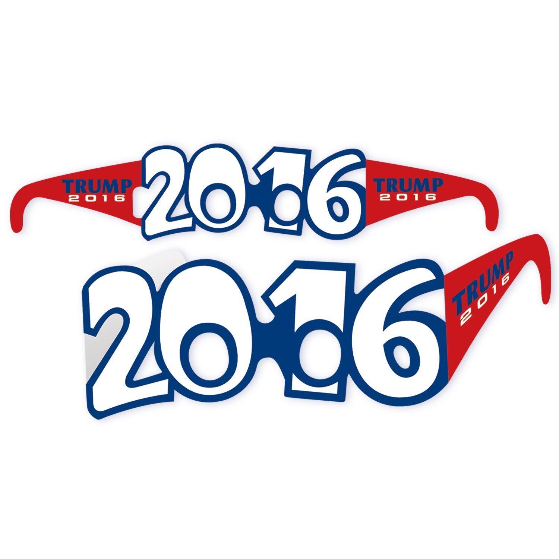 e24125789ca Amazon.com  Beistle Mens Republican Candidate Donald Trump 2016 Eyeglasses  - 1 pkg.  Clothing