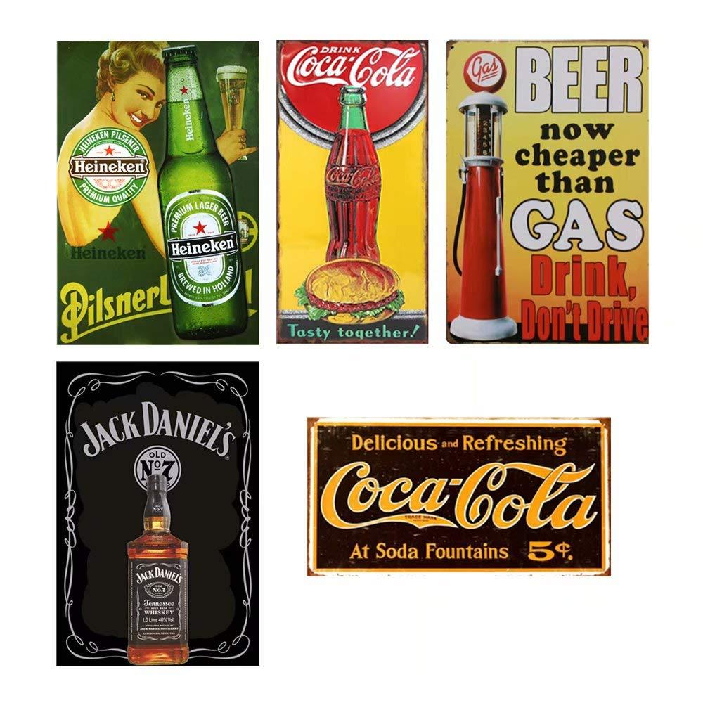 CrystalB - Cartel de decoración vintage de Coca Cola para ...
