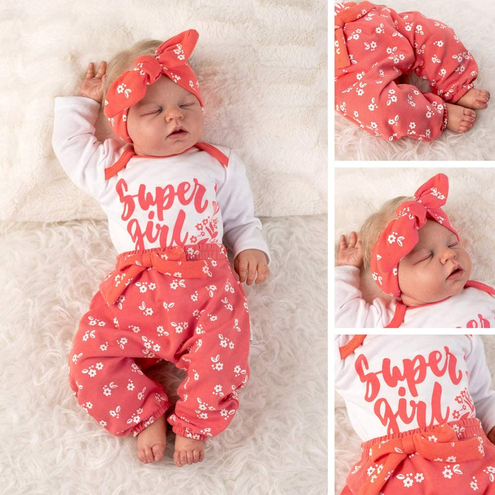 Hose und Haarband in 3 Farben als Baby-Bekleidungsset f/ür Neugeborene und Kleinkinder 0-18 Monate Baby Sweets 3er Baby-Erstausstattung-Set Good Girl f/ür M/ädchen mit Langarm-Body