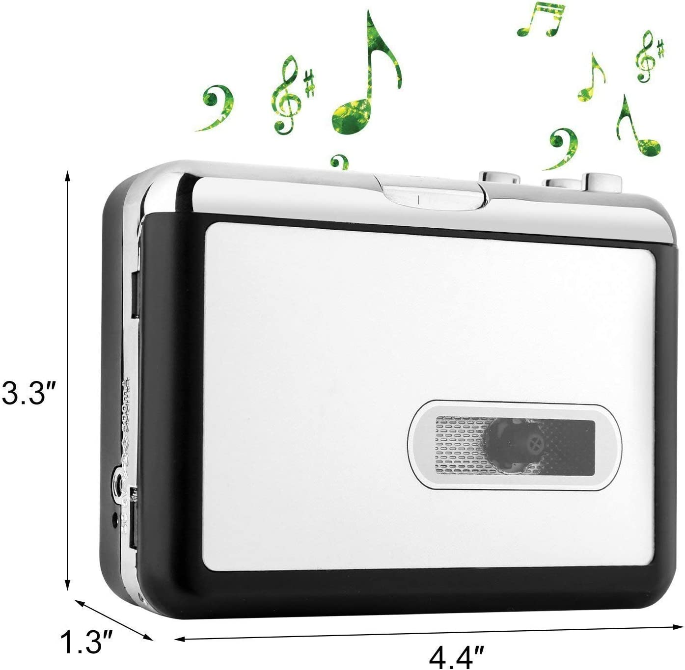 No Need Computer OfficeLead Cassette Player Tape to MP3 Converter Retro Walkman Auto Reverse Portable Audio Tape Player with Earphones