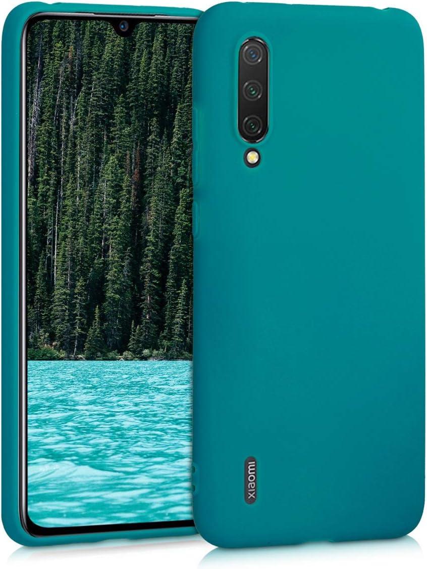 kwmobile Funda Compatible con Xiaomi Mi 9 Lite - Carcasa de TPU Silicona - Protector Trasero en petróleo Mate