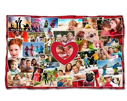 Manta personalizada con tu foto. Manta polar 95 x 140 cm.