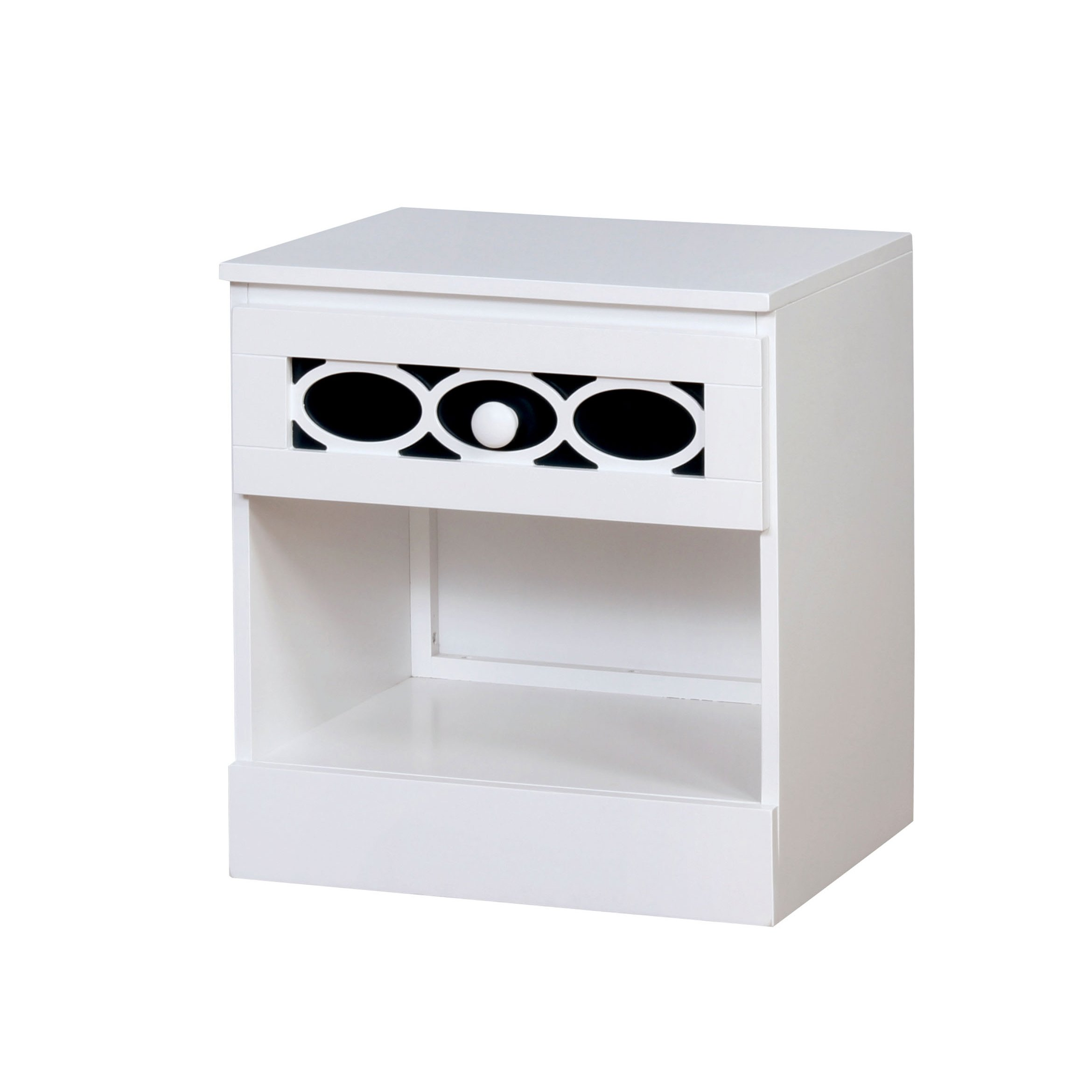 HOMES: Inside + Out IDF-7853BL-N Roka Nightstand Contemporary, Blue