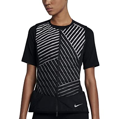 3843f9921f53 NIKE Aeroloft Flash Women s Running Vest (Black Metallic Silver