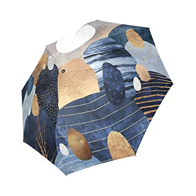 Personalized Little Land Of Pebbles Blue Portable Fashion Foldable Umbrella