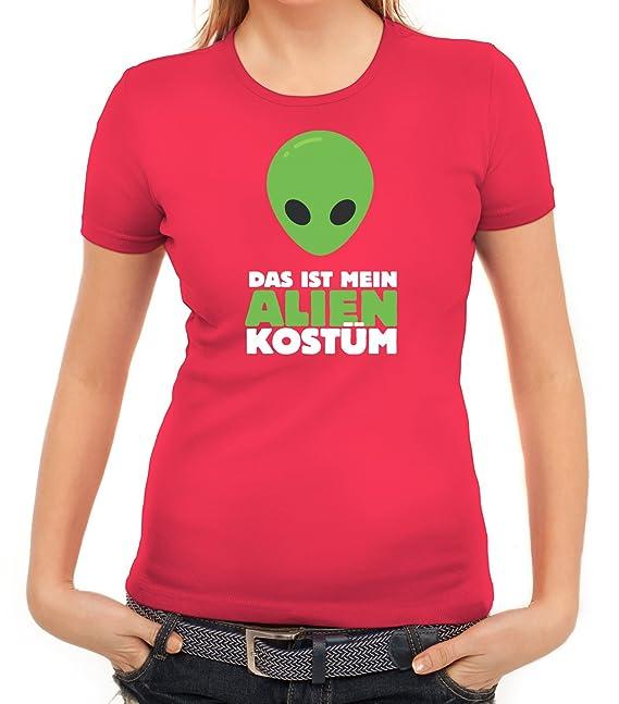 Fasching Karneval Damen T-Shirt mit Das ist mein Alien Kostüm 2 Motiv von  ShirtStreet: Amazon.de: Bekleidung