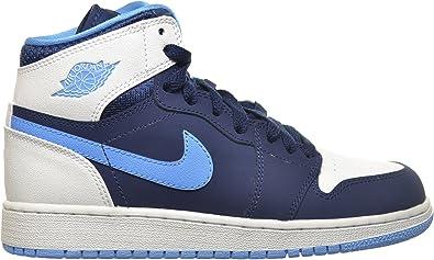 air jordan 1 blue and white kids