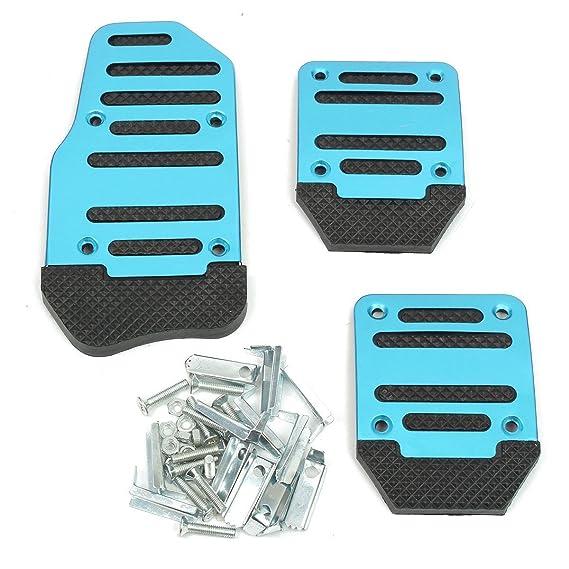 AUDEW 3pcs Pedal Pad único Juego de funda de aluminio para coche auto vehículo: Amazon.es: Coche y moto