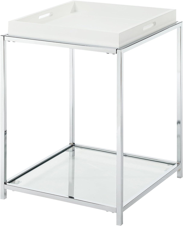 Convenience Concepts 131345W Palm Beach End Table, White