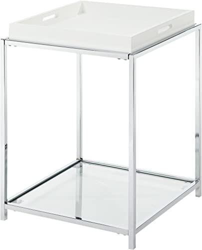 Convenience Concepts Palm Beach End Table, White