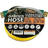 "SuperHandy Garden Lead-in Water Hose 5/8"" Inch x 3' Foot Heavy Duty Premium Commercial Ultra Flex Hybrid Polymer Inlet Hose M"