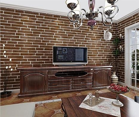 Amazon.com: Imitation Brick Wallpaper Simple Nonwovens 3D ...