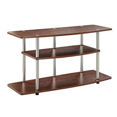 Convenience Concepts Designs2Go 3-Tier Wide TV Stand, Cherry