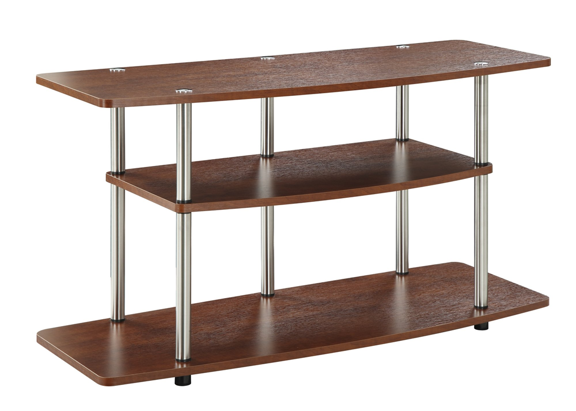 Tv Stand Storage 3 Tier Wide 42 Inch Lcd Plasma Screen Stainless