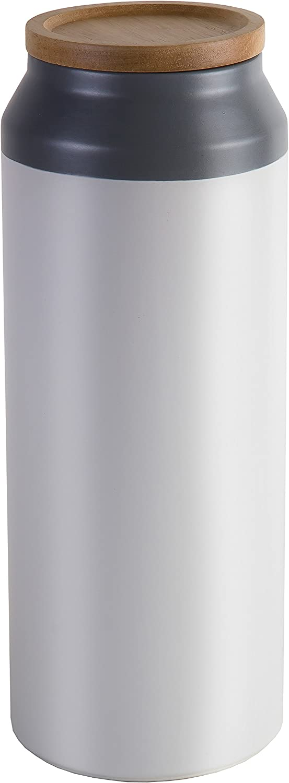 Jamie Oliver JO Large Ceramic Storage Jar, White & Grey