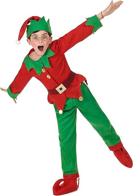Generique - Disfraz Completo Elfo de Navidad niño 4-6 años (104 ...