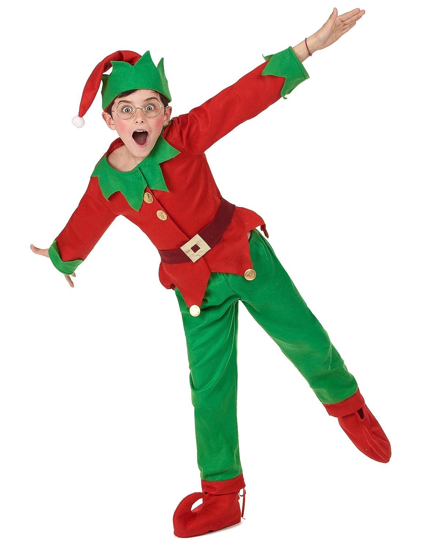 Generique Disfraz completo elfo de Navidad niño 7-9 años (122/134)