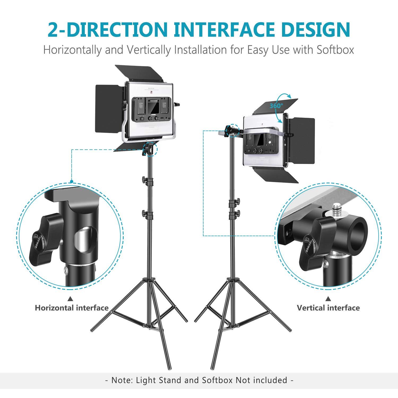 Neewer 660 LED Luz Video Kit Fotograf/ía Bicolor Regulable con Sistema Control Inteligente App Profesional para Iluminaci/ón Video Exterior Estudio Youtube con Pantalla LCD Metal 3200K-5600K