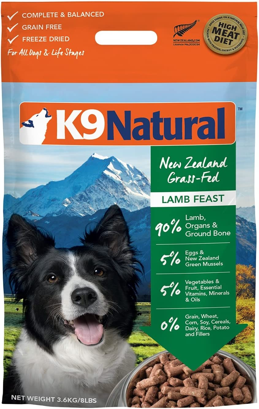 4. K9 Natural Lamb Feast Raw Grain-Free Freeze-Dried Dog Food