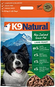 K9 Natural Freeze Dried Dog Food Or Topper Perfect Grain Free, Healthy, Hypoallergenic Limited Ingredients Booster for All Dog Types - Raw, Freeze Dried Mixer