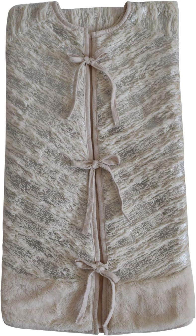 Color : Gold, Size : 90CM Christmas Tree Skirt Cozy Velvet Beige Plush Bronzing Silver Diameter 90cm//106cm//127cm