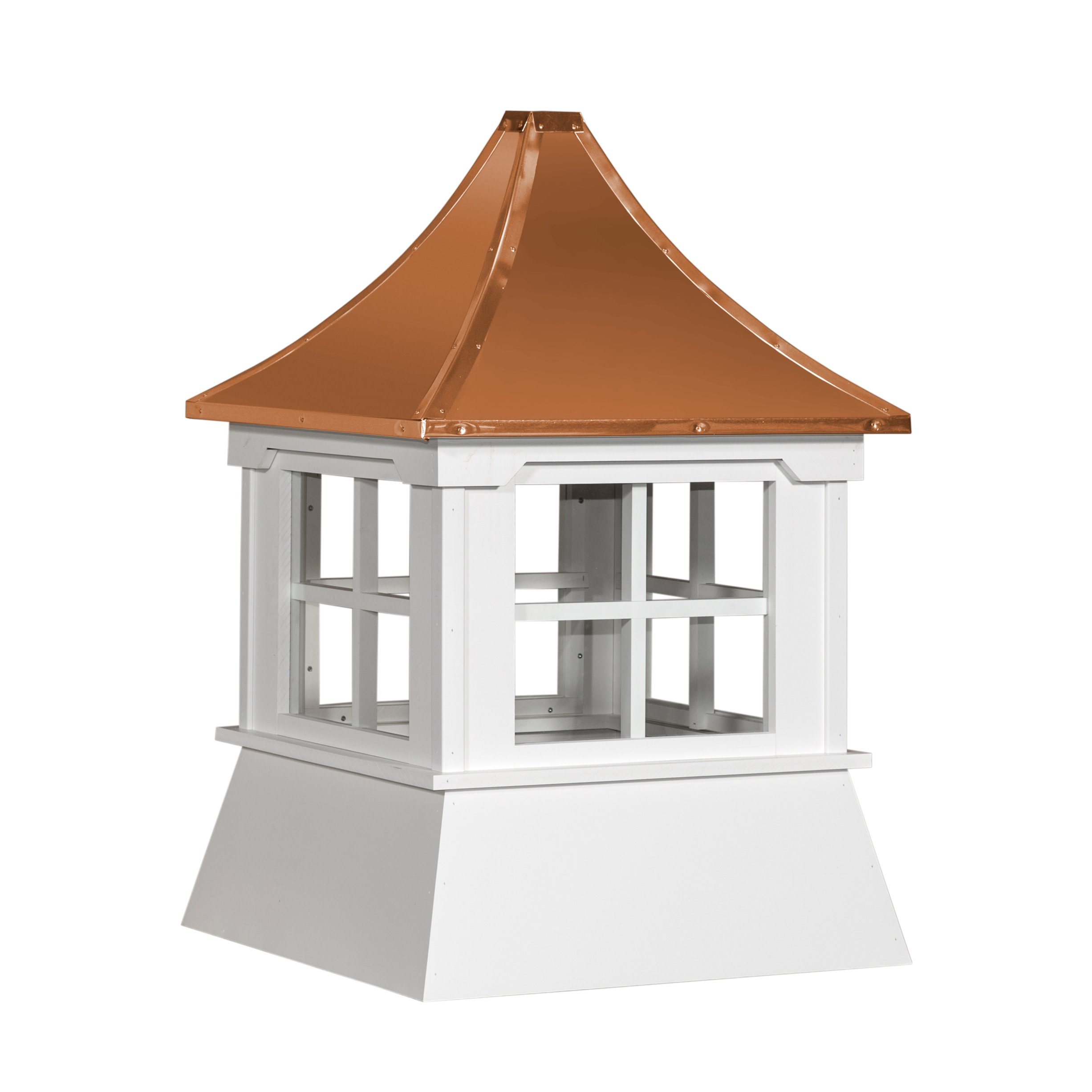 Cupola 16'' Vinyl Shed Cupola with Windows Copper Metal Pagoda Roof