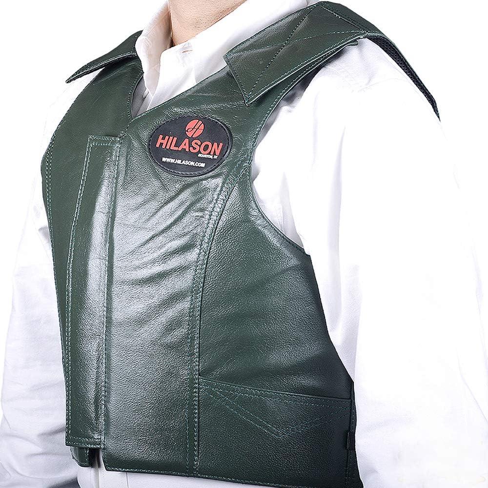 C-26-L Large Hilason Leather Bareback Pro Rodeo Horse Riding Protective Vest
