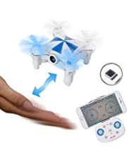 SGILE Mini Remote Control Drone Toy, RC Quadcopter Camera Drone with Movement Sensor