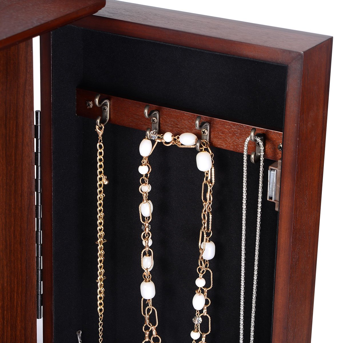Giantex Wood Jewelry Cabinet Armoire Storage Box Chest Stand Organizer Necklace by Giantex (Image #8)