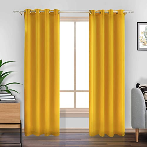 LiilisPoetic Home Yellow Velvet Curtains 96 inches Review
