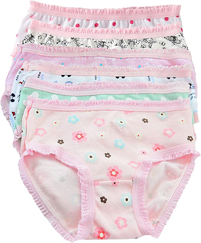 6 Pack Baby Girl Cotton Potty Training Pants 2-3 years random Design Baby Care
