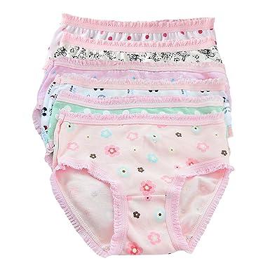 35be6caa14d De feuilles Baby Girl Boy 6PCS Kids Underwear Briefs Kids Hipster Knickers  Sweet Cotton Lace Random