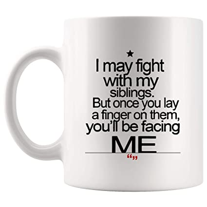 Amazoncom Fight Siblings Sister Brother Mug Gift For Best Mother